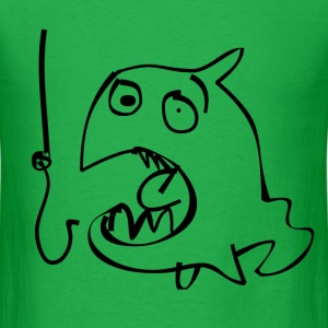 Crazy Fish & Hook T-Shirts - Men's T-Shirt