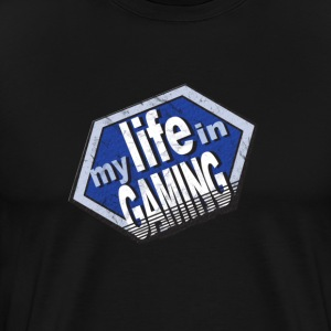My Life In Gaming sticker T-Shirts - Men's Premium T-Shirt