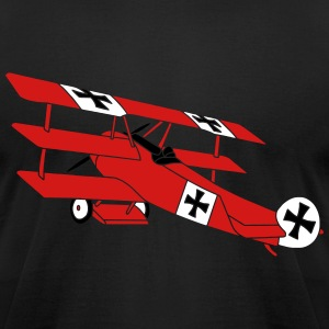 Fokker Roter Baron Red Air Combat First World War T-Shirts - Men's T-Shirt by American Apparel