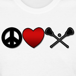 Peace Love Lacrosse T-Shirt - Women's T-Shirt