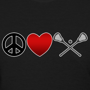 Peace Love Lacrosse Dark T-Shirt - Women's T-Shirt