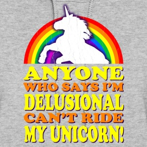 Funny! Can't Ride My Unicorn (Vintage Distressed) - Women's Hoodie