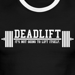 Deadlift Ringer Tee by AlmostAesthetic - Men's Ringer T-Shirt