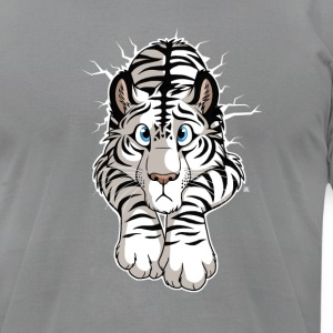 STUCK White Tiger T-Shirts - Men's T-Shirt by American Apparel