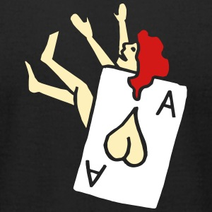 Pin Up Girl Poker Cards Bachelor Party Heart Ass T-Shirts - Men's T-Shirt by American Apparel