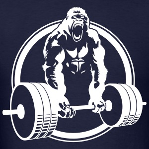 Funny Gym Shirt - Gorilla Lifting Men's Standard Tee - Men's T-Shirt