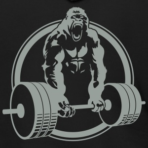 Gorilla Lifting Zipper Hoodie DESIGN ON BACK - Men's Zip Hoodie