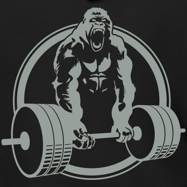 Gorilla Lifting Zipper Hoodie DESIGN ON BACK