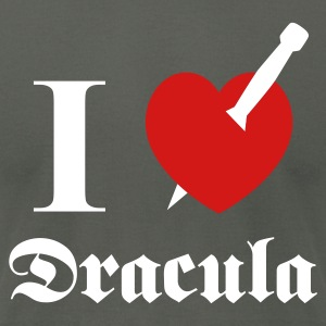 I love (to kill) Dracula T-Shirts - Men's T-Shirt by American Apparel