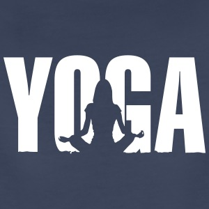 Yoga (with meditation girl) Women's T-Shirts - Women's Premium T-Shirt