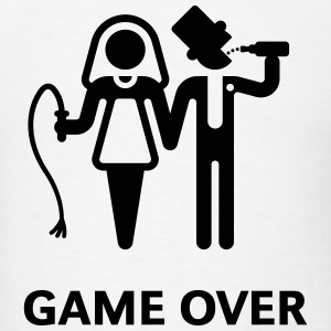 Game Over (Whip and Beer) T-Shirt - Men's T-Shirt