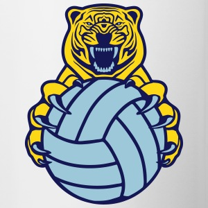 Volleyball Tiger Accessories - Contrast Coffee Mug