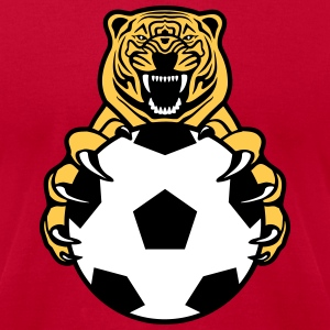 Soccer Tiger T-Shirts - Men's T-Shirt by American Apparel