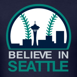 VICTRS Believe In Seattle Baseball Shirt - Men's T-Shirt