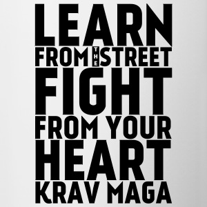 Learn Krav Maga black - Contrast Coffee Mug