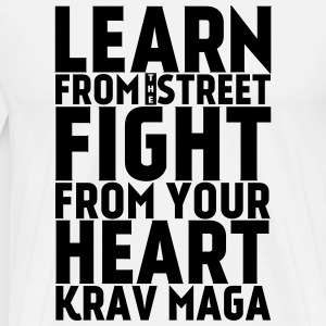 Learn Krav Maga black - Men's Premium T-Shirt