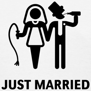 Just Married (Whip and Beer) Women's T-Shirts - Women's T-Shirt