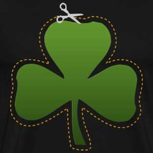 Irish Shamrock Cutout Dark T-Shirt - Men's Premium T-Shirt