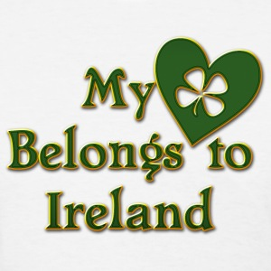 Irish My Heart Belongs To Ireland T-Shirt - Women's T-Shirt