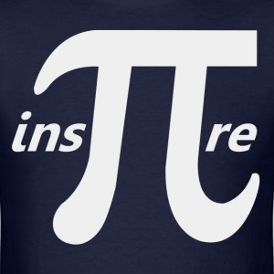 Inspire Inspirational Pi Symbol - Men's T-Shirt