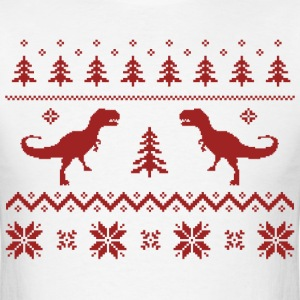 Ugly T-Rex Dinosaur Christmas Sweater T-Shirts - Men's T-Shirt
