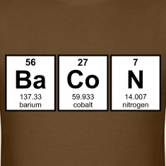 Bacon Periodic Table Element Symbols T-Shirts