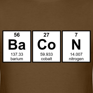Bacon Periodic Table Element Symbols T-Shirts - Men's T-Shirt