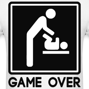 Game Over New Baby for Parent Dad - Men's T-Shirt