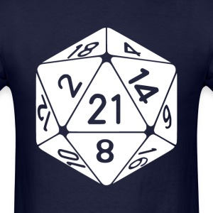 21 Sided 21st Birthday D20 Fantasy Gamer Die T-Shirts - Men's T-Shirt