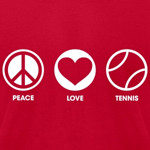 Peace Love Tennis T-Shirts - Men's T-Shirt by American Apparel