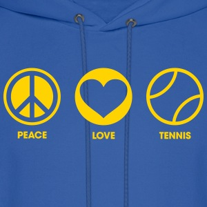 Peace Love Tennis Hoodies - Men's Hoodie