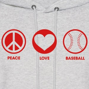 Peace Love Baseball Hoodies - Men's Hoodie