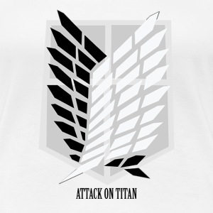 Attack On Titan: Wings of Freedom T-shirt w/ Text Women's T-Shirts - Women's Premium T-Shirt