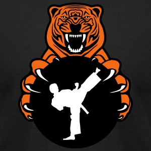 Karate Tiger T-Shirts - Men's T-Shirt by American Apparel