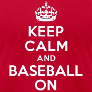 Keep calm and Baseball on T-Shirts - Men's T-Shirt by American Apparel