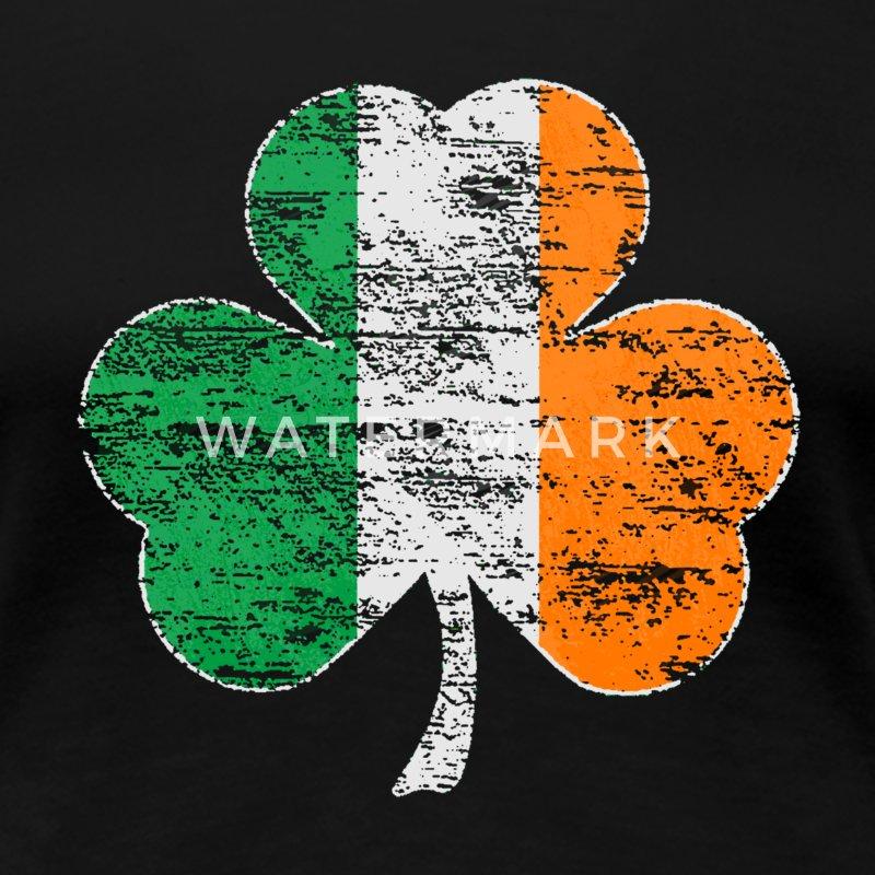 Vintage Distressed Irish Flag Shamrock T-Shirt | Spreadshirt