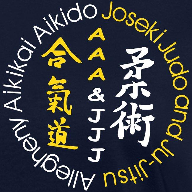 Women's standard t-shirt white/gold logo white/gold artwork