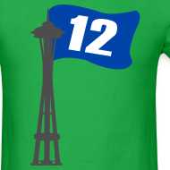 Design ~ Seahawks 12th MAN FLAG Seattle Space Needle Shirt