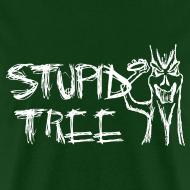 Design ~ Stupid Tree Disc Golf Shirt - Men's Standard Tee - White Print