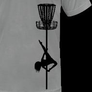 Design ~ Disc Golf Diva Pole Dancer - Men's Fitted Shirt - Black Print