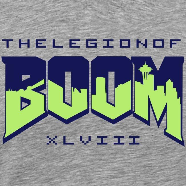 Seattle seahawks Legion of Boom (Doom logo shirt w  SEa skyline b4a1b28bf