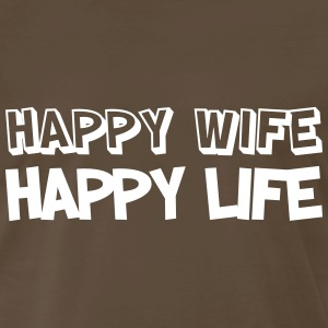 Happy Wife, Happy Life T-Shirts - Men's Premium T-Shirt