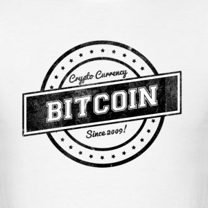 Bitcoin Geek Nerd Logo  - Men's T-Shirt