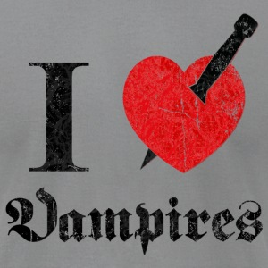 I love (to kill) Vampires (dd print) T-Shirts - Men's T-Shirt by American Apparel