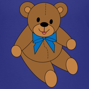Teddy Bear - Blue Bow - Kids' Premium T-Shirt