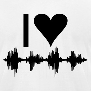 I love music T-Shirts - Men's T-Shirt by American Apparel