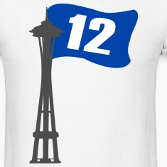 Seahawks 12th MAN FLAG Seattle Space Needle Shirt
