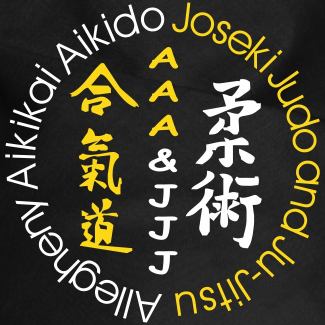 Dog bandana white/gold logo
