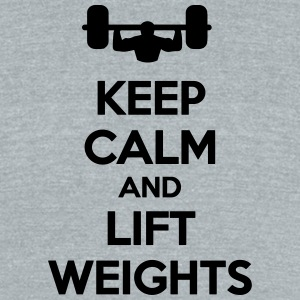 Keep Calm Lift Weights T-Shirts - Unisex Tri-Blend T-Shirt by American Apparel