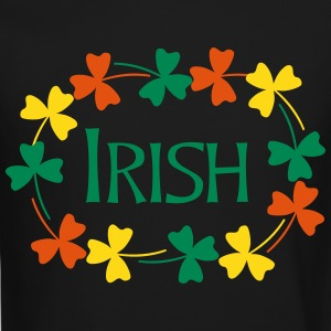 Irish Shamrock Oval Long Sleeve Shirts - Crewneck Sweatshirt